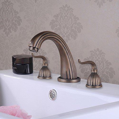 grifos-tres-fije-de-cobre-antiguos-continental-doble-sit-tipo-lavado-lavabo-mezclador