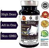 4Sleep - Sonnifero naturale massima potenza Melatonina pura 5-Idrossi triptofano Valeriana Camomilla per addormentarsi subito dormire meglio contro stress ansia e insonnia migliora qualità del sonno