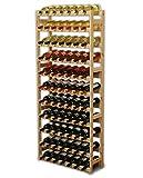 Modo24 RW-1-77 Weinregal, Holz, Unbehandelt, 72.5 x 25.0 x 166.0 cm