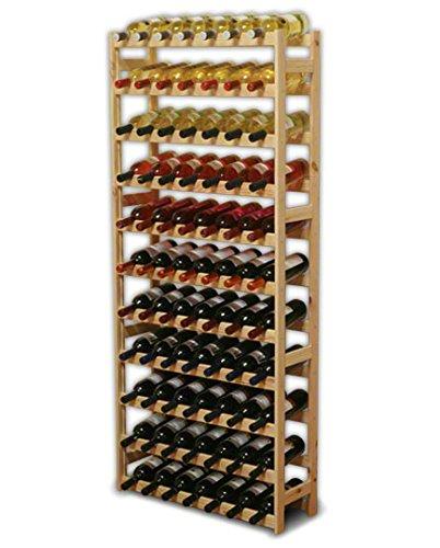 MODO24 Weinregal, Holz, unbehandelt, 72.5 x 25 x 166 cm, 25-Einheiten - Eigene Mode-accessoires