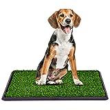 COSTWAY Hundeklo Rasen Welpentoilette Hundetoilette Tierklo Trainingsunterlage Indoor Restroom Töpfchen stubenrein mit Grass 51CMX76CM