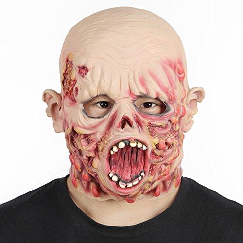 RUNTAR Scary Pustel Horror der Zombie Maske Latex Scary Halloween Kostüm Party Maske