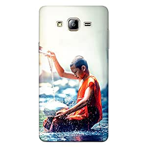 Samsung On7 / Samsung On 7 Premium Stylish Printed Designer Hard Back Cover Case | Little Monks Washing Utensils | nature | Colorful | Peace | Scratch Proof | Lifetime Printing Guarantee | HD Printing Quality | Waterproof | Durable | Slim Light Weight | Matte Polycarbonate Plastic Case Cover | 3 Side Edge to Edge Printing - Crazyink