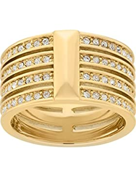 JETTE Magic Passion Damen-Ring Metall 80 Kristall (gold)
