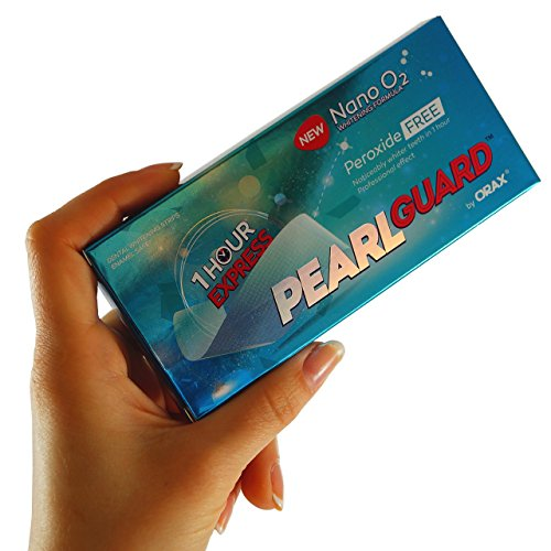 Teeth Whitening Strips 28 Pearl Guard Professional High Grade Peroxide Free Whitening Strips. Revolutionary 1 Hour Express Home Tooth Whitening Treatment. Eu & Uk Approved, Swiss Formula Made In Eu By Orax. Safer Than The Best Teeth/Tooth Bleaching, Whitening Kits, Pens & Other Bleach Whitening Systems.