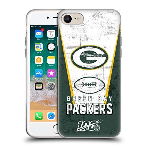 Head Case Designs Offizielle NFL Banner 100ste 2019/20 Green Bay Packers Soft Gel Huelle kompatibel mit iPhone 7 / iPhone 8