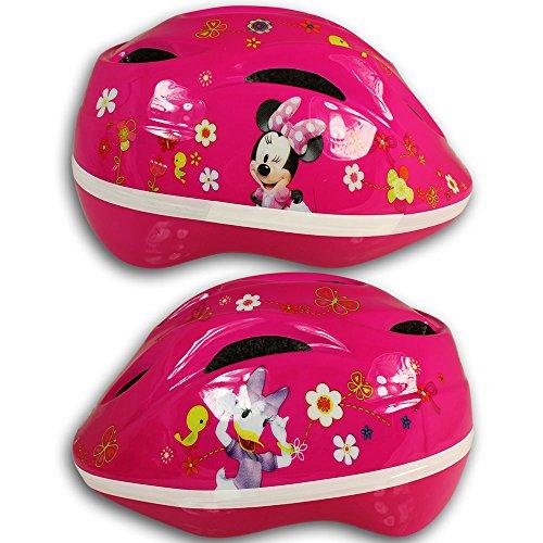Disney Kinderfahrradhelm mit Motivauswahl - Fahrradhelm - Rollschuhhelm - Inlinerhelm - Skateboardhelm (Minnie - Helm Disney