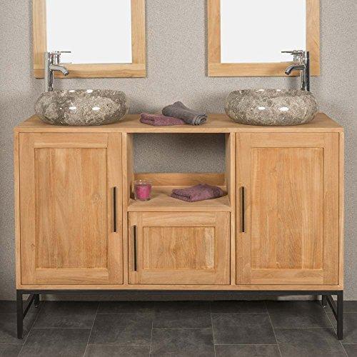 wanda collection Meuble de salle de bain PABLO en teck 130 cm