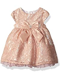 Youngland Baby Girls' Short Sleeve Knit Lace Tutu Mesh Dress