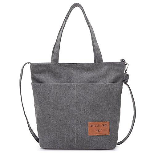 BYD - Unisex Men Donna Large School Bag Borse Tote Bag Shopping Bag Canvas Bag Colore puro Borse a mano
