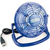 mumbi MUMBI_3040, mumbi USB Tisch Ventilator Mini Fan Venti für Computer Notebook Laptop blau