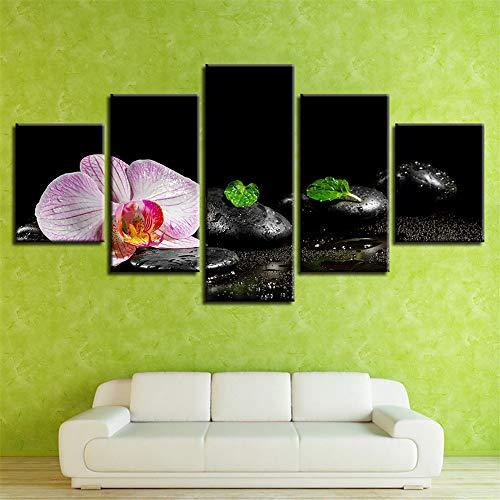 BBQBQ Pittura Decorativa,Inkjet Candela di Pietra di bambù Fiori Multi-connesso Moderno Muro Dipinto casa per Il Tempo Libero Club Pittura 12 Nucleo 30x40cmx2 30x60cmx2 30x80cmx1
