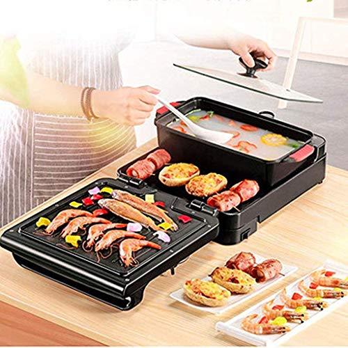 Nouvelle machine pliante multifonction électrique cuisinière barbecue Hot Pot...