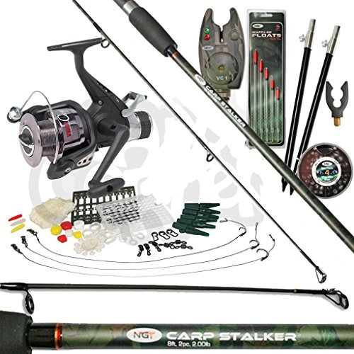 Carp-Fishing-Stalking-Set-up-With-Rod-Bait-Runner-Reel-Bite-Alarm-Tackle-Bundle