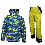Killtec Ijabo Jr - Ski Set Kinder Skianzug mit Gelber Hose, Farbe:Blau, Kinder Größen:152