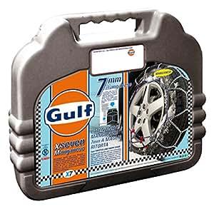 """Gulf 76018 """"X7"""" Chaines a neige 7 mm pour voiture, Taille 130, Première qualité, Homologation TUV et ÖNORM"""