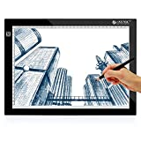 ESYNiC Tavola Luminoso Disegno A4 - Tavoletta Grafica Led per Disegnare - Light Pad Ultrasottile 8mm con Tre Luminosità Regolabili Tavolo Pittura Alimentato da USB per Arte Aminazione e Fotografica