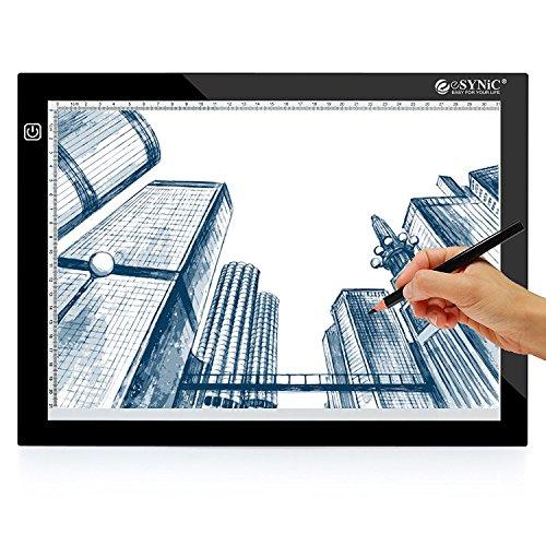 ESYNiC Mesa Dibujo A4 LED Tablet 3 Tipos Luminosidad