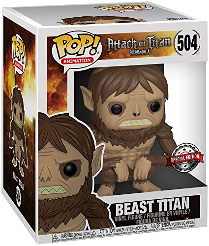 Attack on Titan Beast Titan (Oversized) Vinyl Figure 504 Funko Pop! Standard (Spielzeug Attack Titan)