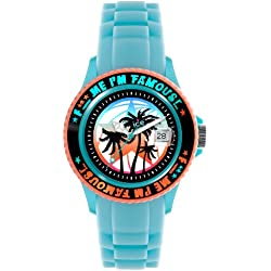 Ice-Watch F*** Me I'm Famous Turquoise Palm Silicon Strap Unisex 43mm FM.SS.TEP.U.S