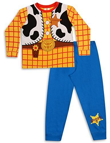 Kinder Woody Für Kostüm (Jungen Toy Story Buzz LightYear Oder Woody Verkleidung Schlafanzug 18-24m 2-3y 3-4y 4-5y 5-6y - Woody,)