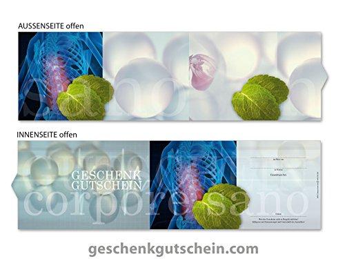 50 Stk. Premium Booklet Gutscheine für Physiotherapie, Naturheilkunde, Energetik MA702, LIEFERZEIT 2 bis 4 Werktage !