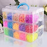 #8: Tied Ribbons Multi Compartment Container Storage Box for Jewelry, Nail Art, Make up, Cosmetics(3 Tier 18 Compartments)
