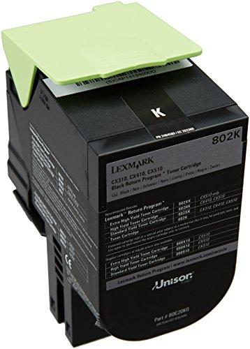 Lexmark 802K Black Return Program Toner Cartridge lowest price