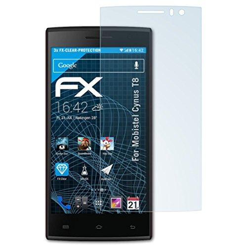 atFolix Schutzfolie kompatibel mit Mobistel Cynus T8 Folie, ultraklare FX Displayschutzfolie (3X)