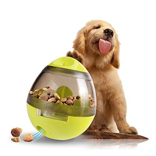 ChuangLan Hunde-Ball, interaktives Spielzeug für Hunde-Spender, unzerstörbar IQ Leckerli-Ball für Hunde, Training, Kauen Puzzle-Becher