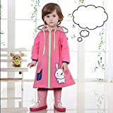 Regenmäntel Kinder Jungen Mädchen Kinder Grundschulkinder Baby Prinzessin Kindergarten Big Brimmed Hat Poncho, Schoolbag Bit (Farbe: D-m)