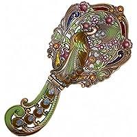 Lrg-Specchio per tavolino da toeletta in stile vittoriano, motivo: pavoni
