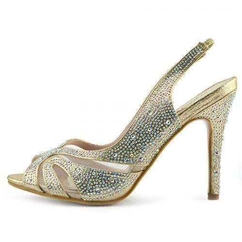 Kick Schuhe Damen Hochzeit Heels Diamante Sandale Schuhe