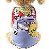 EUZeo Hund Sommer Kleidung Welpen Hund Katze Weste Gedruckt Shirt Hündchen Hundepullover Lovle Hundebekleidung Pet Kleidung Mini Haustierpullover Cute Hundeshirts
