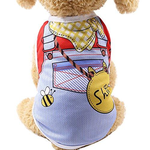 BBsmile Ropa Perro pequeño Invierno Ropa para Mascotas Ropa Perrito Cachorro Camisa de Gato Chaleco Correa Falsa
