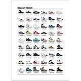 Cartel–Arte–Sneakers (Zapatillas) mythiques–50x 70cm