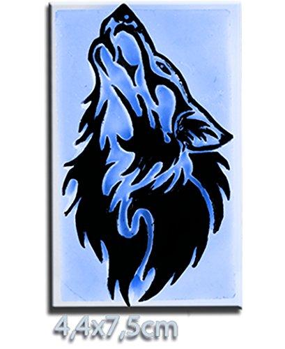 Pierre Tatouage Temporaire Ephémère Magic Tattoo- Appel du loup