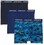 Björn Borg Herren Boxershorts 3P Shorts Bb Shadeline, Blue (Total Eclipse),X-Large
