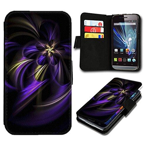 Book Style Wiko Darkmoon Premium PU-Leder Tasche Flip Brieftasche Handy Hülle mit Kartenfächer für Wiko Darkmoon - Design Flip SV89