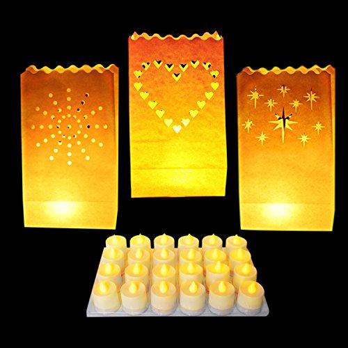 Weißes Papier Dekorative Laternen von Kurtzy - Kernstück Dekorationen für Hochzeiten und Geburtstage - Flammfest - Große Laternen - Mit Teelichter Verwenden (Normal oder LED) (Origami Halloween-laterne)