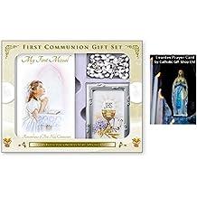 Catholic Gift Shop Ltd Set de regalo para comunión con marco de fotos y tarjeta de
