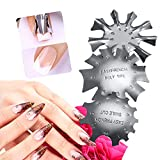 French Line Edge Smile Cutter Nail Stencil Edge Trimmer Multi-size Nail Manicure 3 Styles