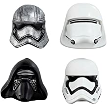 Star Wars Capitán Phasma/Kylo Ren/Stormtrooper/Snowtrooper Episode-7imanes de nevera, negro/blanco, juego de 4.