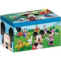 Delta Kids - Caja de juguetes plegable de paño de lino (56,5 x 35,9 x 34,3 cm)