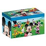 Delta Kids - Caja de juguetes plegable de paño de lino (56,5 x 35,9 x 34,3 cm) Mickey Mouse Talla:número: 1 unidad