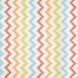 Fabulous Fabrics Tissu de décoration Canvas Enduit Zigzag Multicolore - Vendu au mètre à 0,5m - pour Coudre Décoration, Nappes et Sacs