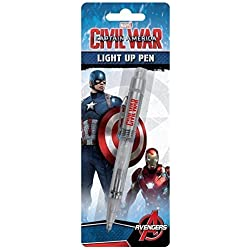 Official Marvel Captain America Civil War Light Up Pen by Marvel