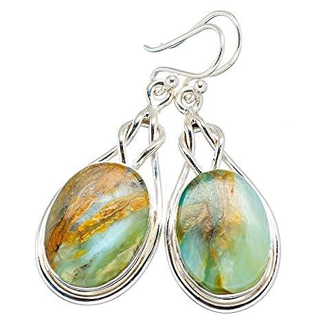 Ana Silver Co Peruvian Opal 925 Sterling Silver Earrings 1 3/4