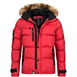 Geographical Norway / Anapurna Herren Winterjacke Jacke Outdoor Warm Gefüttert Behar/Biwa Gr. S-XXXL, Größe:M;Farbe:Rot