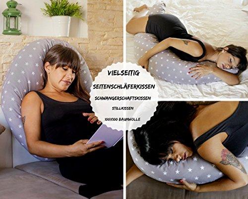 Almohada Embarazada Dormir y Cojin Lactancia Bebe,Funda...